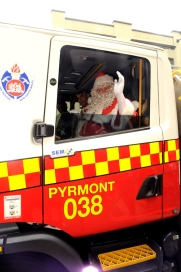 Santa arrives in style